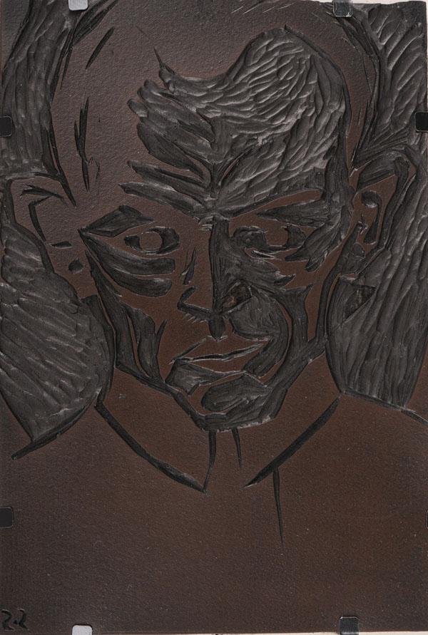 Autoportret III, 1919matryca linorytnicza; 15,1 x 10,2 cm