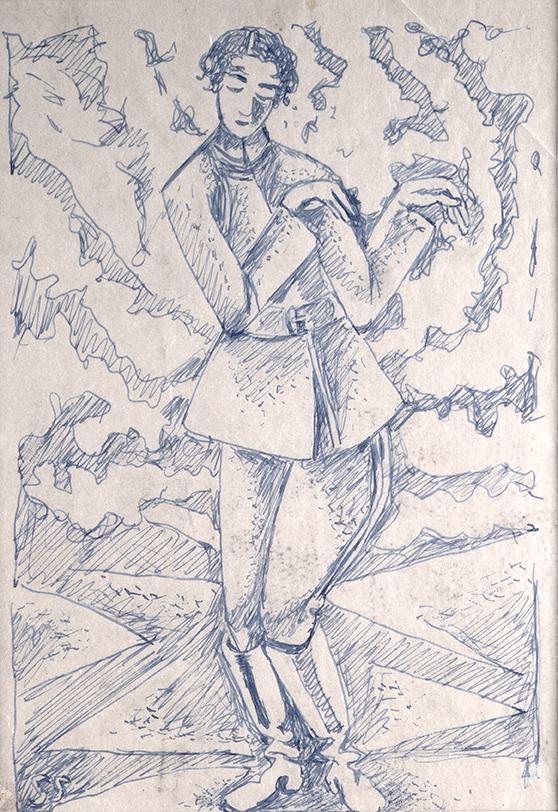Portret Artura Swinarskiego, 1920rysunek: pióro, tusz, kalka techniczna; 22,8 x 15,3 cm