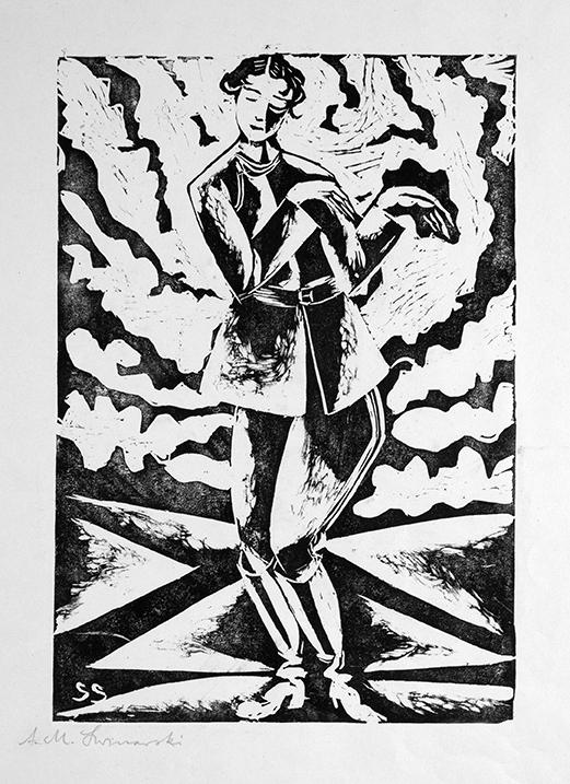 Portret Artura Swinarskiego, 1920linoryt, papier; 22,5 x 15,4 cm
