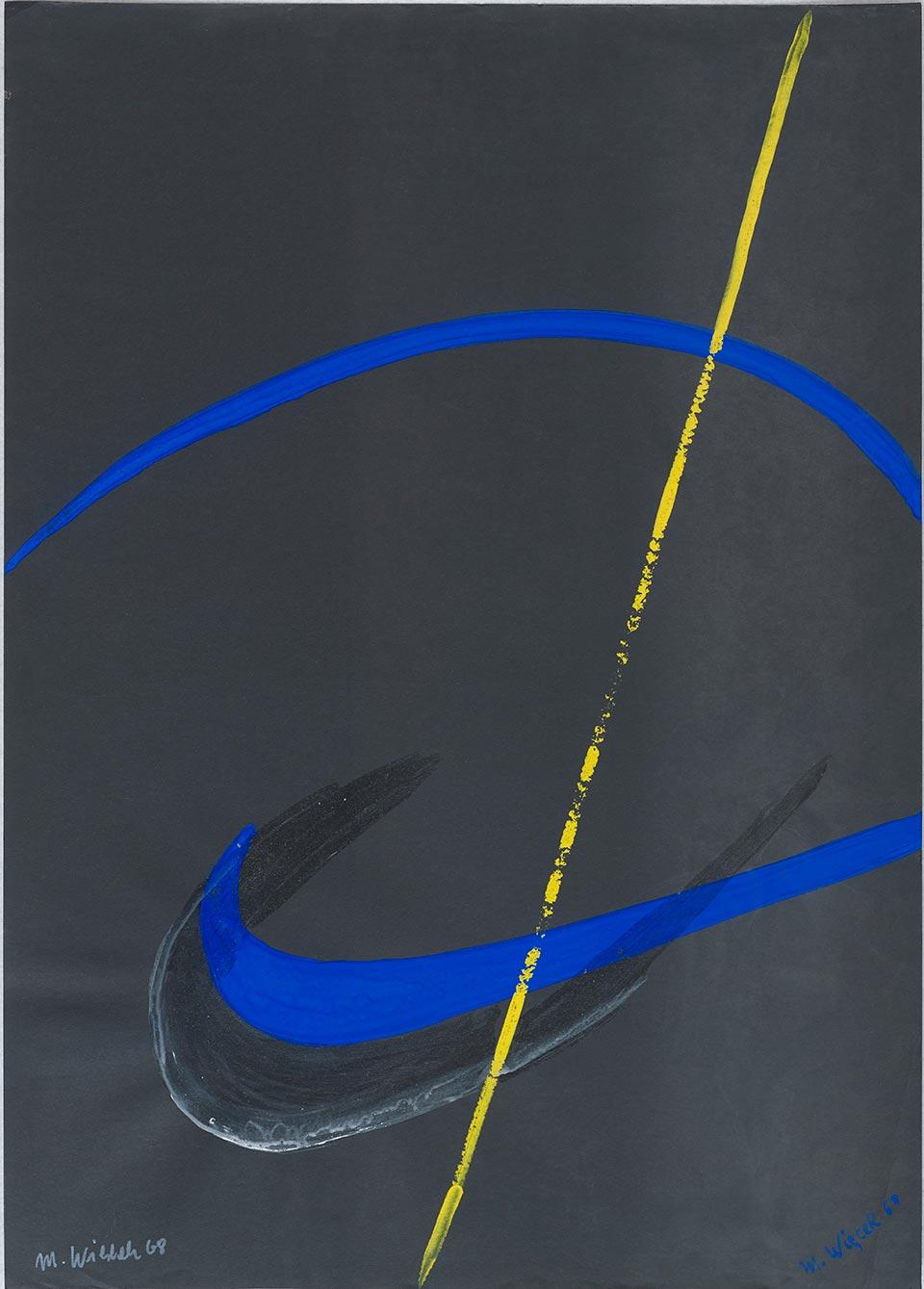 Bez tytułu, 1968 akryl, papier; 68 x 48 cm