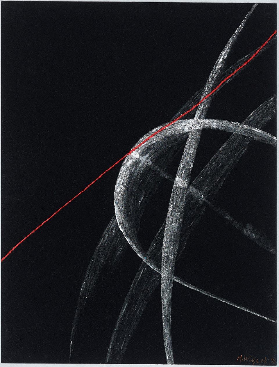 Bez tytułu, 1979 akryl, papier welurowy; 65.5 x 50.5 cm