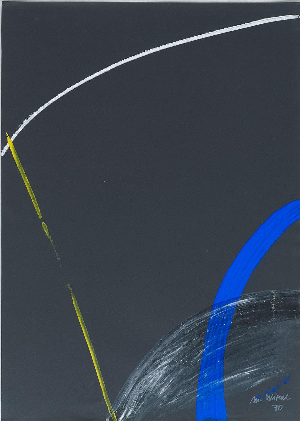 Bez tytułu, 1970 akryl, papier; 70 x 50 cm