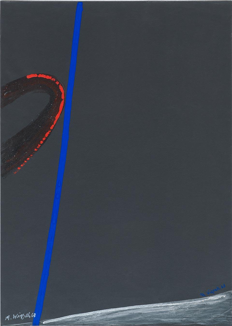 Bez tytułu, 1968 akryl, papier; 70 x 50 cm