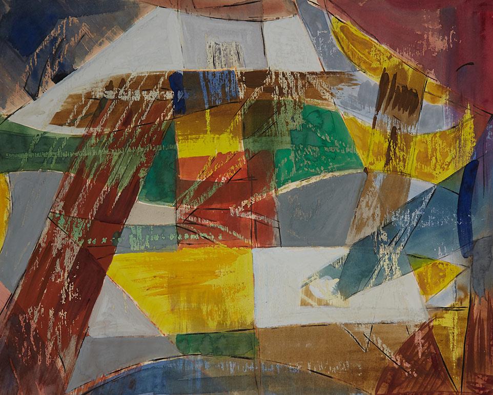 1956tusz, akwarela, tempera na papierze, 76 x 60 cm