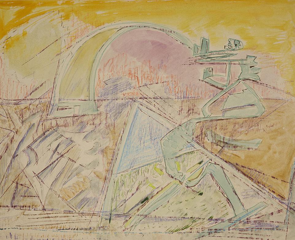 1956tusz, akwarela, kredka na papierze, 60 x 76 cm