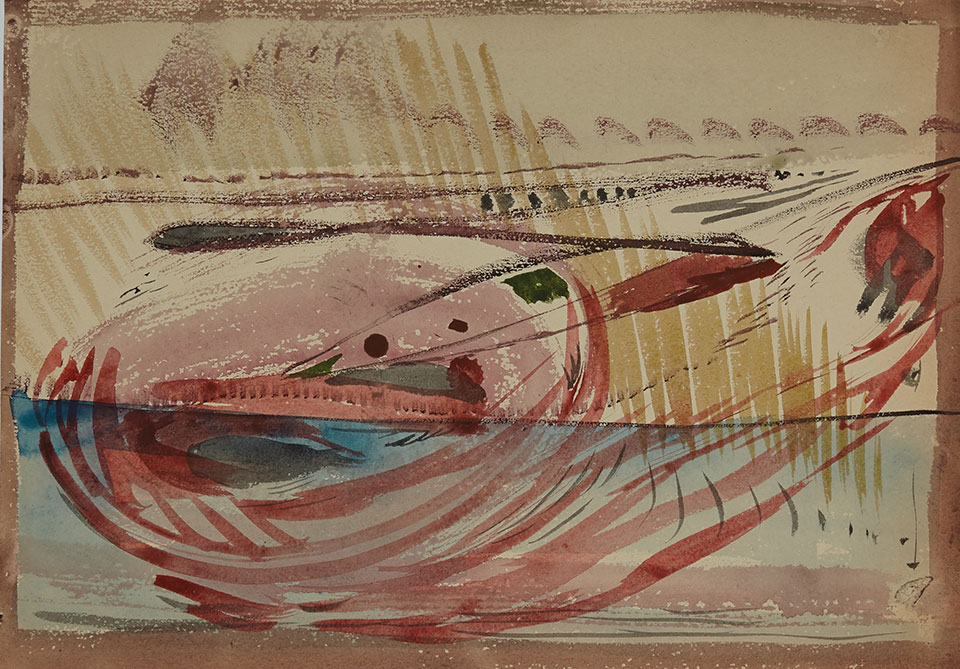 1956tusz, akwarela, tempera na papierze, 29.5 x 42.5 cm