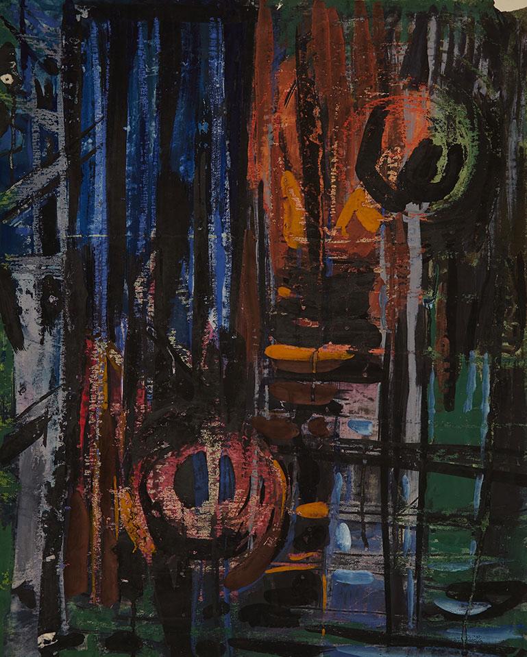 1956tusz, akwarela, tempera, kredka na papierze, 76 x 60 cm