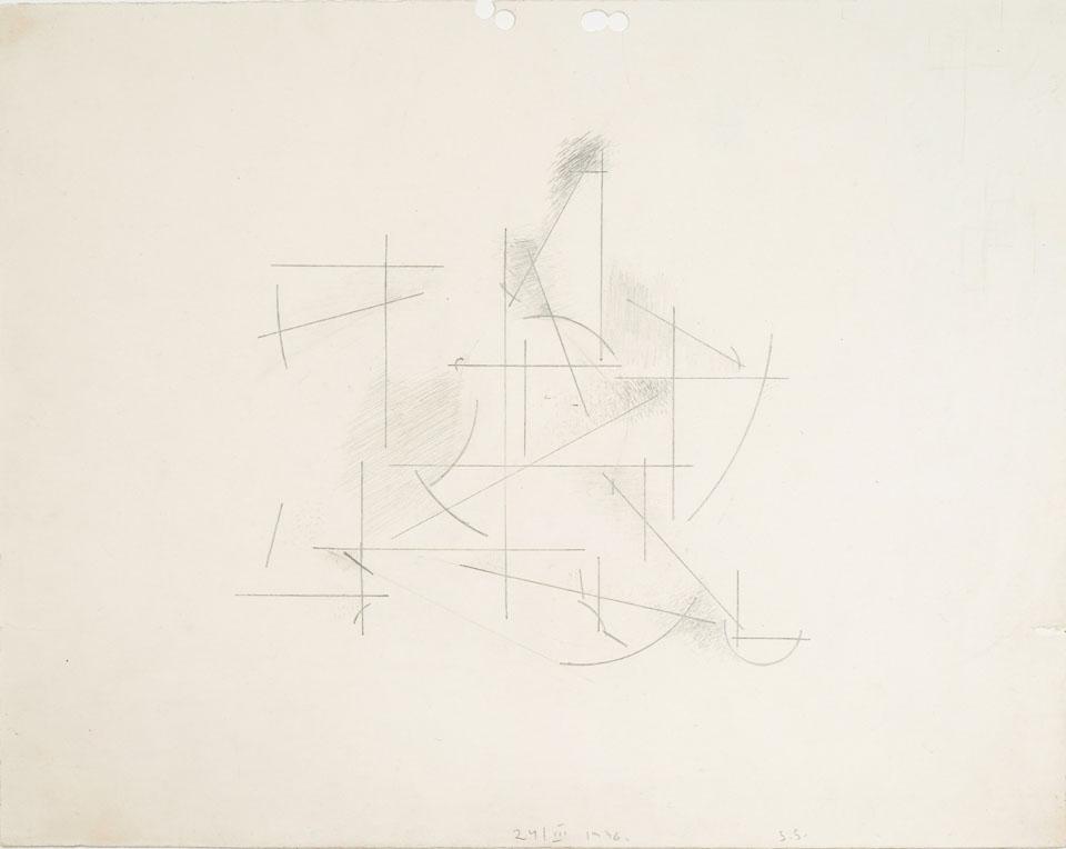 Konstrukcja 24/III 1936ołówek na papierze, 22 cm × 28 cm