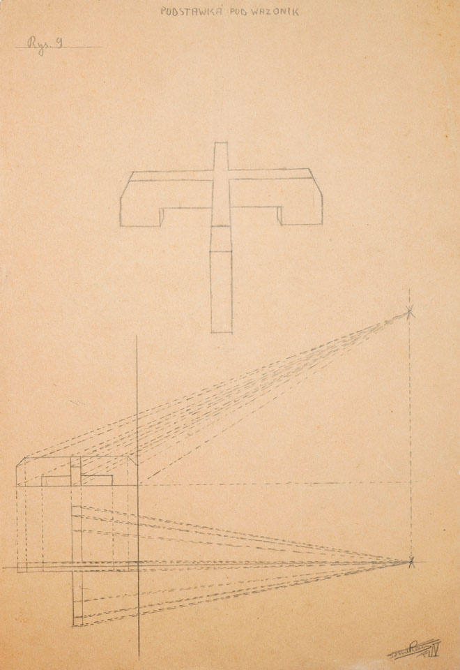 Projekt Podstawki pod Wazonik 1936ołówek na papierze, 33.4 cm x 22.8 cm